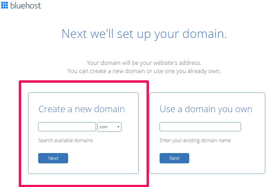 select a domain name for your blog
