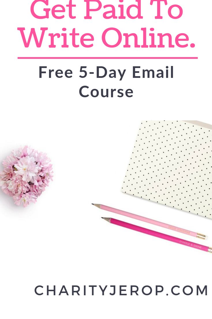 Get Paid to write online. Free email course