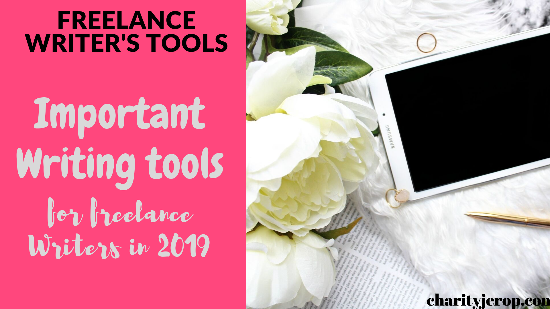 Must-have writing tools for freelance writers.