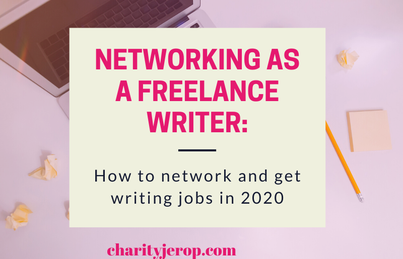 How to Network as a freelance writer.