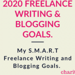 2020 Freelance Writing and Blogging Goals