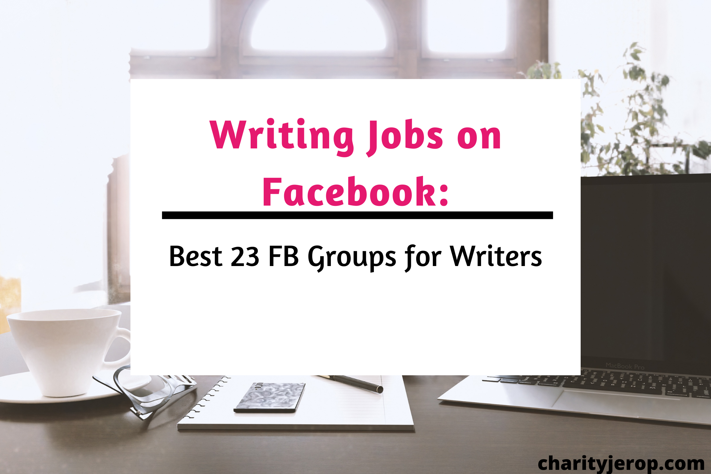 Writing jobs on Facebook