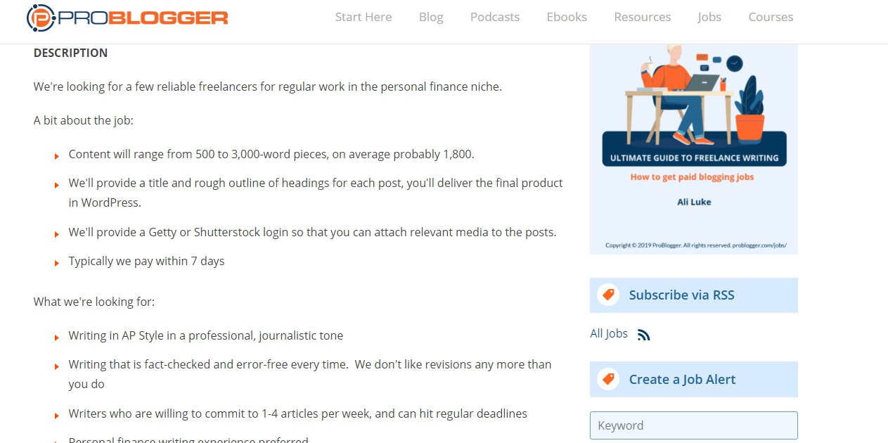 Hire a personal finance writer